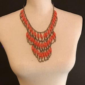 Jewelry - Beautiful Coral Colored Statement Necklace